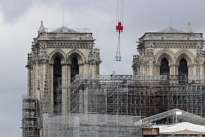 Work Is Started On Removing Damaged Scaffolding Around Notre Dame Cathedral