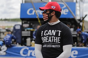 NASCAR's Bubba Wallace Wants Confederate Flags Banned From Race Tracks