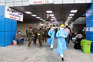 In Iraq, Rising Virus Cases And Oxygen Shortages Stoke Outrage, Fears Of 'Chaos'