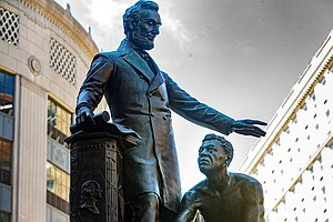 Boston To Remove Statue Depicting Abraham Lincoln With Freed Black Man At His...