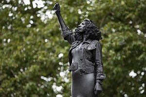 Black Lives Matter Monument Replaces Statue Of Slave Trader In England