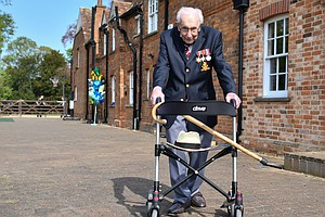 100-Year-Old Tom Moore, Who Raised Millions By Walking Laps, To Be Knighted F...