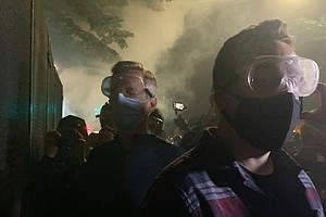 Portland's Mayor Is Tear-Gassed By Federal Forces On Another Night Of Protests