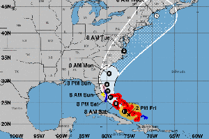 Florida's Gov. DeSantis Declares Emergency As Hurricane Isaias Closes In