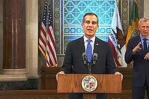 Los Angeles Mayor Says City May Shut Off Water, Power At Houses Hosting Large...