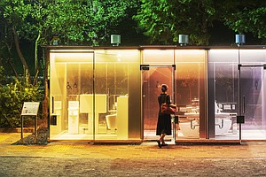 Transparent Public Toilets Unveiled In Tokyo Parks — But They Also Offer Privacy
