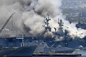 Navy Investigating Whether Fire Aboard USS Bonhomme Richard Was Arson