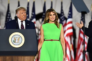 Melania Trump's Bright Green Dress On Final RNC Night Screams Meme