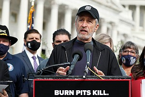 Jon Stewart Uses His Celebrity To Bring Attention To Vets Exposed To Burn Pits