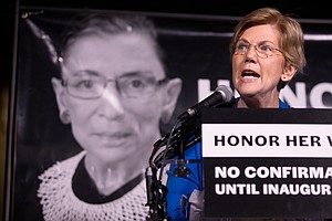 Ginsburg Vigil Draws Tears, Protests Against McConnell