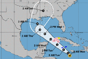 Tropical Storm Delta Gets Stronger, Is Forecast To Hit Gulf Coast As Hurricane