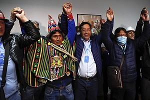 Ally Of Socialist Evo Morales On Track To Win Bolivia's Election As Rival Con...