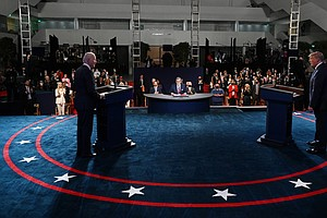 Debate Commission To Mute Candidates' Mics At Start Of Each Segment