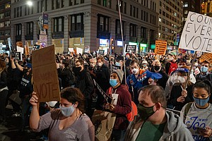 'Count Every Vote!' Large Postelection Protests Seen In Several U.S. Cities