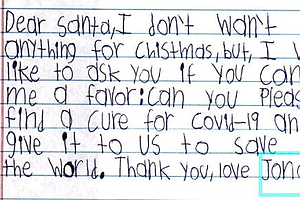 'Could You Help Santa?' In Christmas Wishlists, Children Write Of Pandemic Ha...