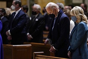 Biden Attends Mass Before His Swearing In As Nation's 2nd Roman Catholic Pres...
