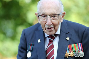 Captain Tom, 100-Year-Old Who Inspired Millions, Is Hospitalized With COVID-19