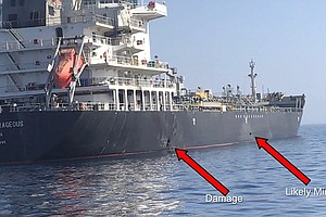 Explosion Damages Israeli-Owned Ship In Gulf Of Oman