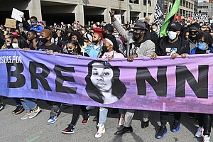 Hundreds Gather To Demand Justice For Breonna Taylor 1 Year After Her Death