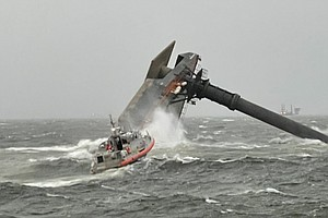 Commercial Boat Capsizes South Of Louisiana; Coast Guard Rescues 6