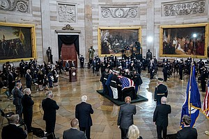 Officer Billy Evans Is Honored At U.S. Capitol Where He Served And Was Killed