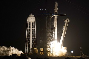 SpaceX Rocket Launches With Astronauts Aboard