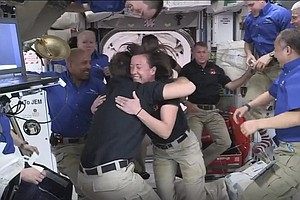 Tight Quarters Aboard The Space Station As SpaceX Capsule Delivers 4 New Arri...