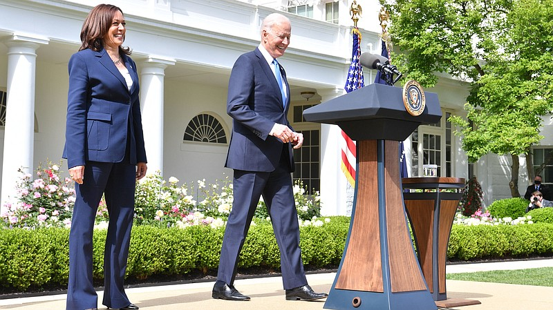 President Biden arrives with Vice President Harris to discuss the CDC's new m...