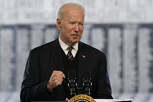 Photo for For Memorial Day, Biden Pays Tribute To Fallen Service Members In Delaware