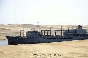Iran's Largest Navy Ship Sinks In The Gulf Of Oman After Catching Fire