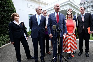 Photo for 'We Have A Deal': Biden Announces A Bipartisan Infrastructure Agreement With ...