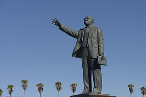 An MLK Jr. Statue Was Vandalized With Graffiti, Prompting A Hate Crime Invest...