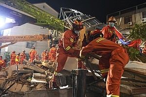 At Least 8 People Are Dead After A Hotel Collapsed In Eastern China
