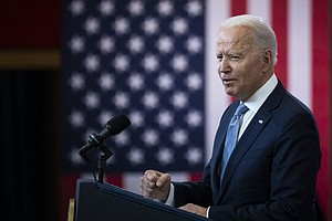 'This Is A Test Of Our Time,' Biden Says About Voting Rights Battles