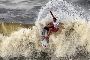 U.S. Surfer Carissa Moore Wins The First Gold Medal Ever In Her Sport At The ...