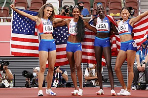 U.S. Women Win 4x400, And Allyson Felix Becomes The Most Decorated U.S. Track...