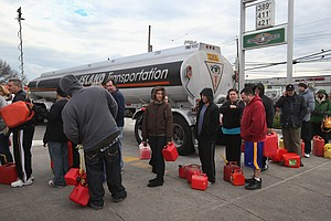 Free Gas Draws Crowds In New York City; Gas Rationing Sta...