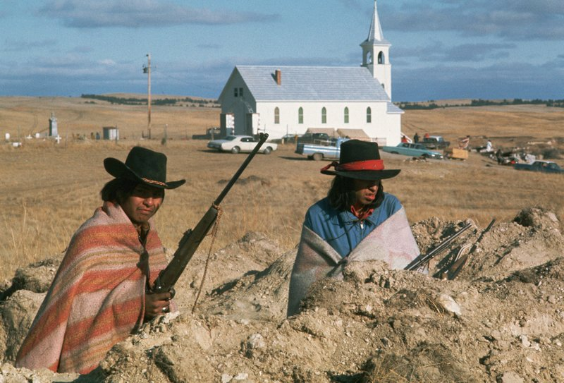 Protesters on the Pine Ridge Indian Reservation (We Shall Remain TV series)
