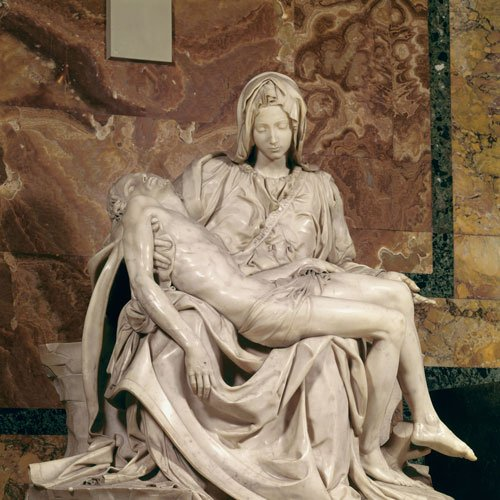 Pietà, one of Michelangelo's most famous sculptures. (Secrets of the Dead: Michelangelo Revealed)