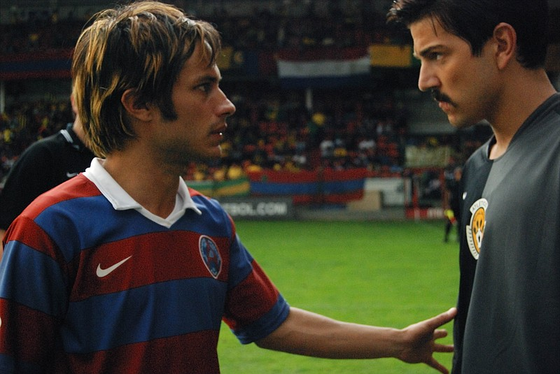 Gael Garcia Bernal and Diego Luna play brothers in Rudo y Cursi