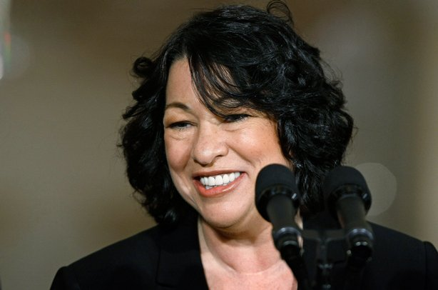 Federal Judge Sonia Sotomayor makes remarks after being named by U.S. Preside...