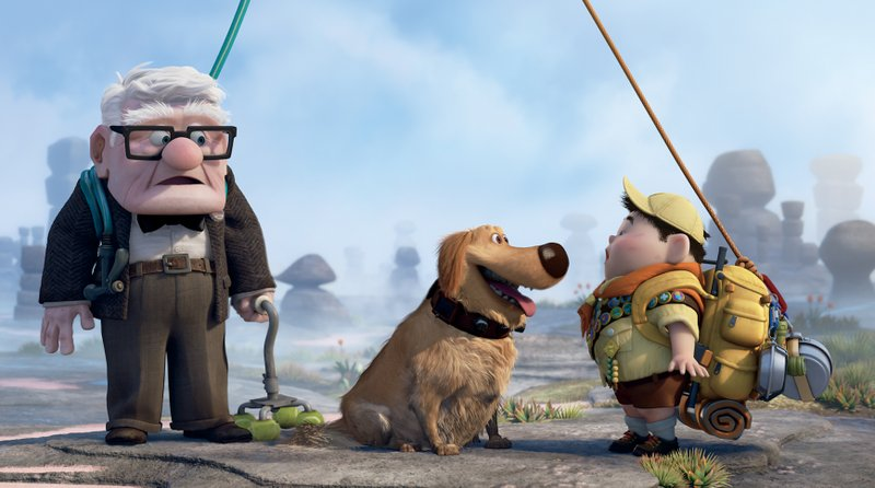 Carl, Russel and Dug in Up