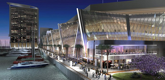 Conceptual renderings of a phase 3 expansion for the San Diego Convention Cen...