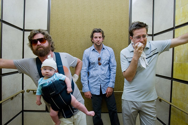 Zach Galifianakis, Bradley Cooper, and Ed Helms are three men and a baby in V...
