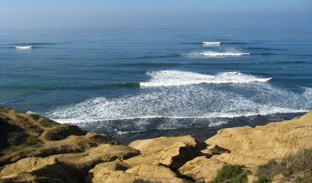 A view of the Pacific Ocean from Sunset Cliffs in San Diego.