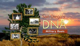Title graphic for San Diego's DNA: Military.