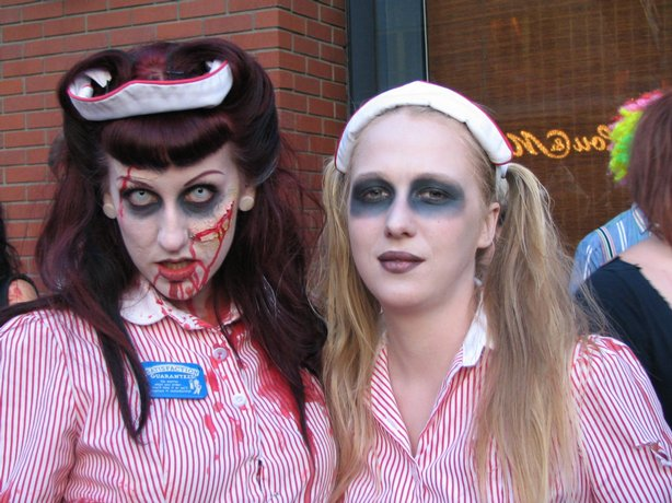 Nikki Ferris and Kyra Clifford took part in World Zombie Walk this past Sunday.
