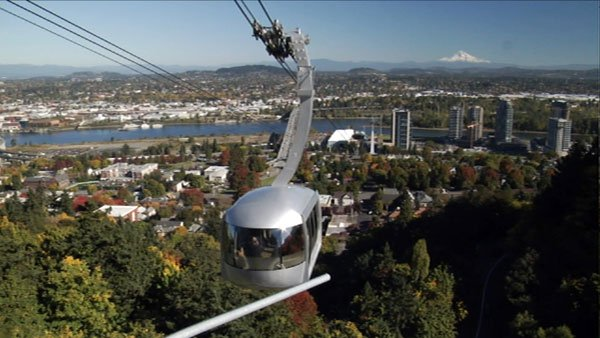 The third film in the <em>MAKING SENSE OF PLACE</em> series profiles Portland, Oregon. With its alternative transportation, distinct urban boundary and overall green sensibility, can Portland continue to contain its growth and still satisfy all of its inhabitants? Pictured: Portland Aerial Tram