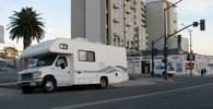 San Diego's mobile needle exchange operates out of a camper van in East Village on Thursday nights.