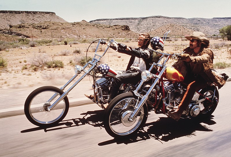 Dennis Hopper and Peter Fonda hit the open road in the newly restored print o...